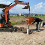 観光いちご園用 ハウス建設工事 基礎工事完了
