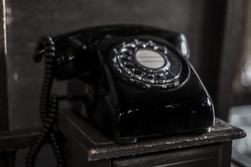 黒電話。懐かしい!